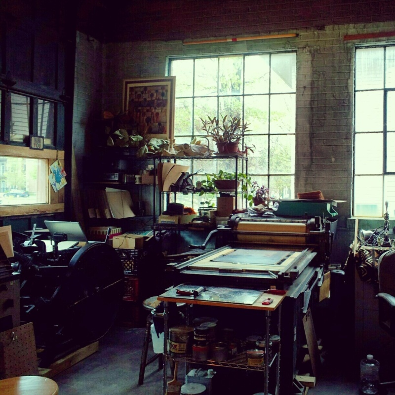 My letterpress studio at the I. Fell